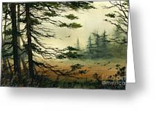 Misty Tideland Forest Greeting Card by James Williamson