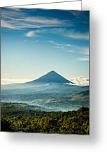 Misty Volcano Greeting Card