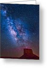 Mitchell Butte Milky Way Greeting Card