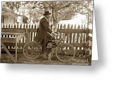 Mitchell Motorcycle Circa 1907 Greeting Card