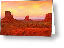 Mittens Sunset Greeting Card
