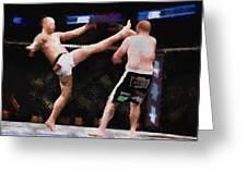 Mixed Martial Arts - A Kick To The Head Greeting Card