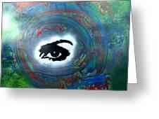 Mixed Media Abstract Post Modern Art By Alfredo Garcia Eye See You Greeting Card