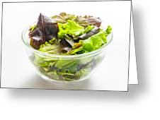 Mixed Salad In A Cup Greeting Card