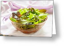 Mixed Salad On Table Greeting Card