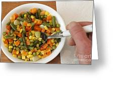 Mixed Vegetables Meal Greeting Card