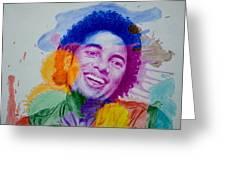 Mj Color Splatter Greeting Card by Sruthi Murali