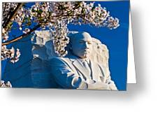 Mlk Memorial Framed By Cherry Blossoms Greeting Card