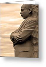 MLK Greeting Card by Mitch Cat
