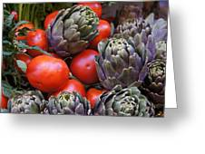 Articholes And Tomatoes Greeting Card