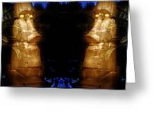Moai Gold Greeting Card