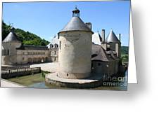 Moated Castle - Bussy Rabutin - Burgundy Greeting Card