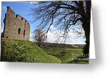 Moated Castle Greeting Card