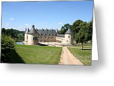 Moated Palace - Bussy-rabutin Greeting Card