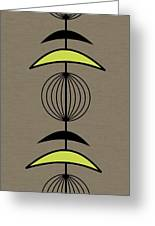 Mobile 3 In Green Greeting Card