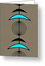 Mobile 3 In Turquoise Greeting Card