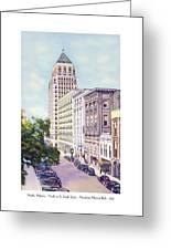 Mobile Alabama - North On St. Joseph Street - Merchants National Bank - 1937 Greeting Card