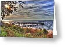 Mobile Bay Sunset Greeting Card