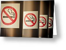 Mobile Photography Toned Row Of No Smoking Signs Greeting Card