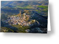 Moclin Castle From The Air Greeting Card