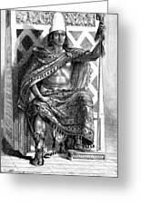 Moctezuma II, Ninth Tlatoani, Aztec Greeting Card