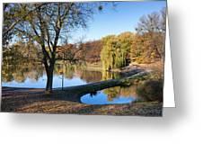 Moczydlo Park In Warsaw Greeting Card