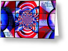 Mod 163 - Freedom Abstract Greeting Card