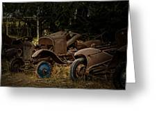Model A Bodies And One Blue Wheel Greeting Card