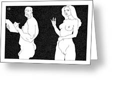 Model And Artist 21 Greeting Card