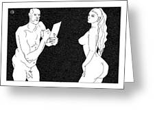 Model And Artist 23 Greeting Card