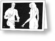 Model And Artist 24 Greeting Card