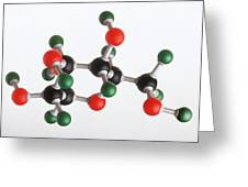 Model Of A Glucose Molecule Greeting Card