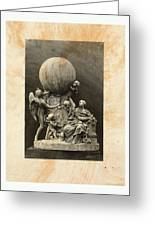 Model Of A Statue Dedicated To French Balloonists Greeting Card