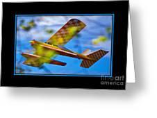 Model Plane 2 Greeting Card