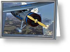 Model Planes Top Wing 04 Greeting Card