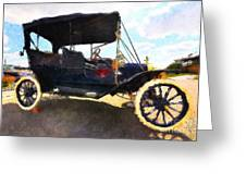 Model T Ford Greeting Card