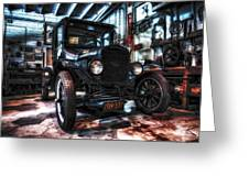 Model T In Hdr Greeting Card