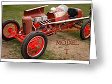Model T Racer Greeting Card
