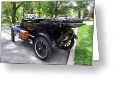 Model T With Luggage Rack Greeting Card
