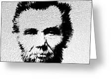 Modern Abe - Abraham Lincoln Art By Sharon Cummings Greeting Card