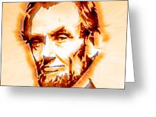 Modern Abraham Lincoln Greeting Card