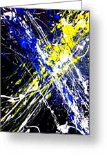 Modern Abstract Painting Original Canvas Art Atoms By Zee Clark Greeting Card