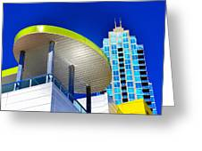 Modern Architecture With Blue Sky Greeting Card