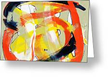 Modern Art Eighteen Greeting Card