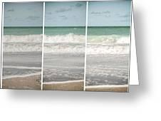 Modern Beach Tryptych Greeting Card