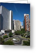Modern Buildings In Central Rio De Greeting Card