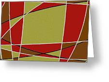 Modern Curve Oil Greeting Card