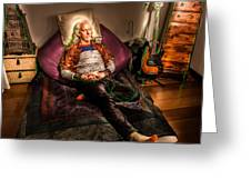 Modern Day Jesus Greeting Card by Semmick Photo