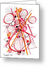 Modern Drawing Fifty-four Greeting Card
