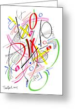 Modern Drawing Fifty-three Greeting Card